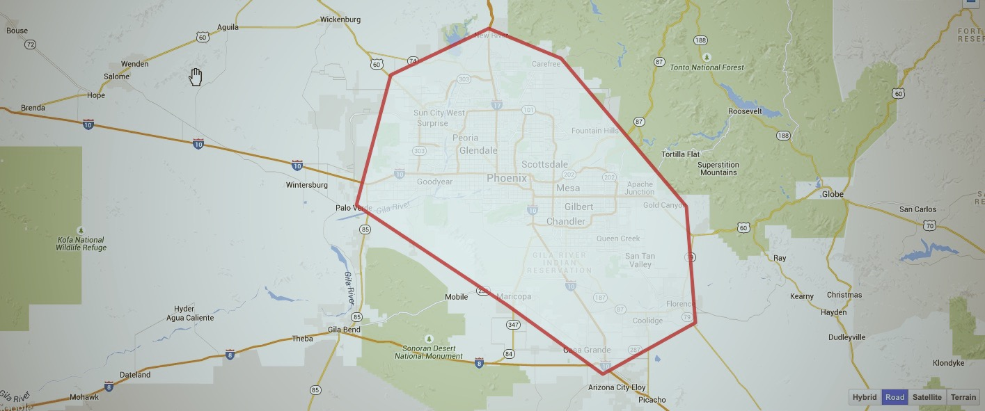 areas we service in Phoenix for piano moving